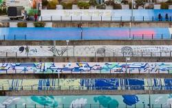 서울역 청파로 235m 옹벽을 활용한 공공미술 '청파미래도'