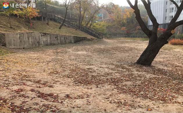 노원구 초안산근린공원 도시숲 조성 전 모습