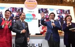 박원순 시장이 중국 순방 첫 일정으로 베이징의 핫플레이스 798예술구에서 열린 '리브 서울 플레이그라운드' 현장을 찾았다