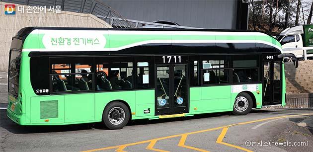 11월 15일 시내버스 1711번 노선에 전기버스가 도입되었다