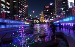 서울 크리스마스페스티벌 청계광장 일대 풍경