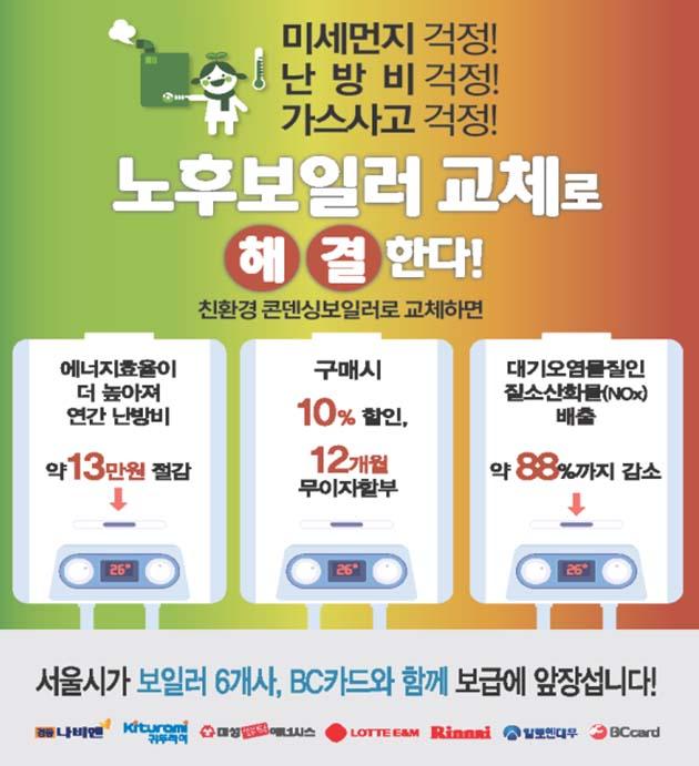 친환경콘덴싱보일러 홍보 포스터
