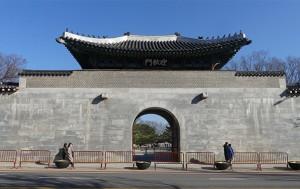 2018년 12월 6일 개방된 경복궁 영추문