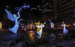 청계천에서 열리고 있는 '서울 크리스마스 페스티벌'