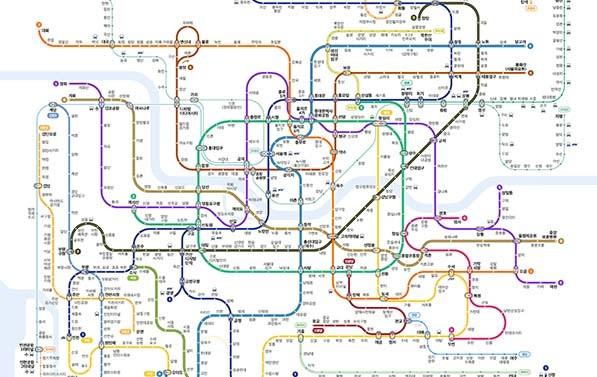 색각이상자‧일반인 공용 지하철 노선도