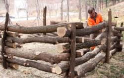 2018년 11월 월드컵공원 폐목재로 문화비축기지 낙엽함을 설치하는 과정