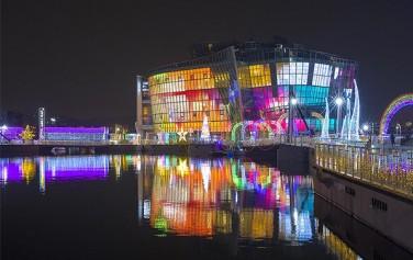 반포한강공원에서 3월 3일까지 '세빛 어메이징 일루미네이션 축제'가 열리고 있다