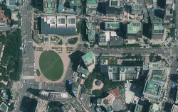 서울시 항공사진 서비스에서 확인한 서울시청 주변 항공지도