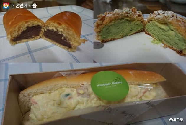 '수요미식회'에 등장해 유명세를 탔다는 초코빵과 사라다빵