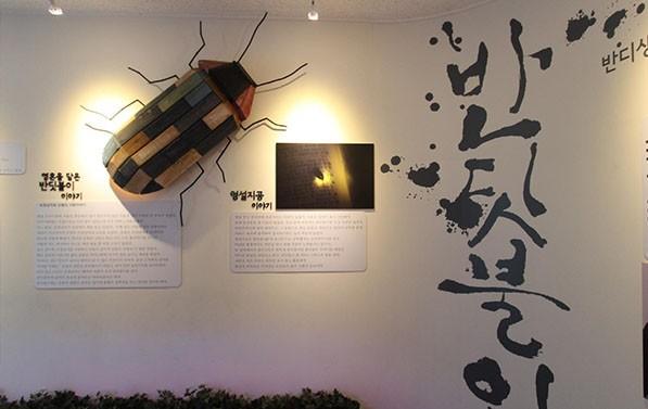 노을공원 반딧불이생태관 전시장 입구