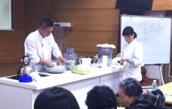 서울시농업기술센터 전통요리음식 무료강좌 `식초 만들기` 시연 모습