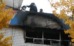 지난해 11월 종로구 고시원에서 화재가 발생해 경찰,소방 관계자가 화재감식을 하고 있다