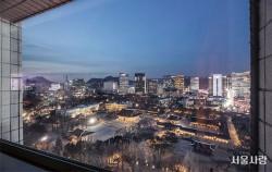 덕수궁의 운치 있는 풍경이 바라보이는 서울시청 서소문별관 정동전망대