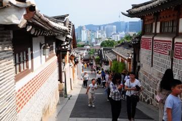 외국인 관광거리 삼청동 한옥마을