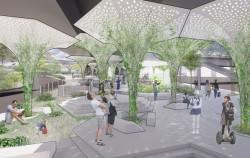 한남1 당선작(천장환)_녹색 식물이 자라나는 주민 휴식공간으로 조성된다