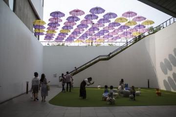 서울식물원 꽃우산 놀이터