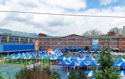 물놀이장으로 변신한 숭덕초등학교 운동장