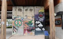 독일 베를린 시에서 기증받은 베를린 장벽