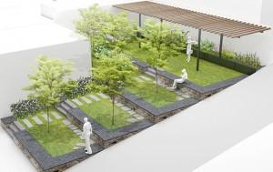 삼양동 옥탑방 맞은편 계단식 공원쉼터와 텃밭(예정)