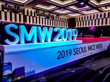 서울 마이스 위크 2019의 심볼인 'SMA 2019'