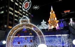 청계천에 열린 서울크리스마스 페스티벌
