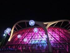 밤풍경이 멋진 서울식물원의 전경모습