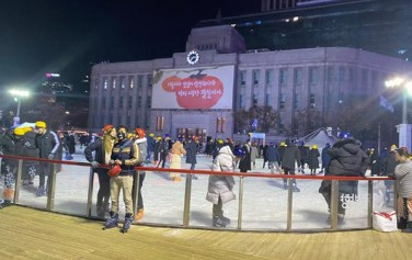 스케이트를 타는 사람들