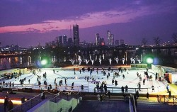 노들섬 스케이트장 전경