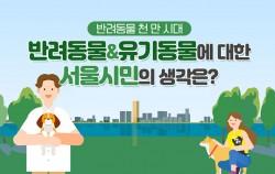 반려동물 천 만 시대 반려동물 유기동물에 대한 서울시민의 생각은?