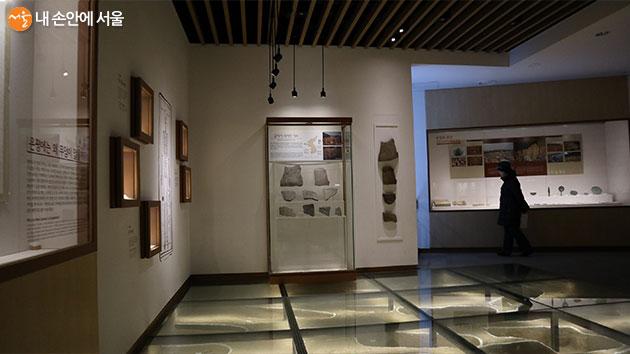 은평 뉴타운에서 발굴된 유적을 전시하고 있는 상설 전시실