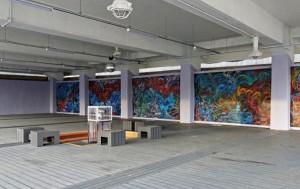 문화비축기지 옛 가압펌프장에 국내외 작가의 협업으로 멋진 예술벽화가 탄생했다.