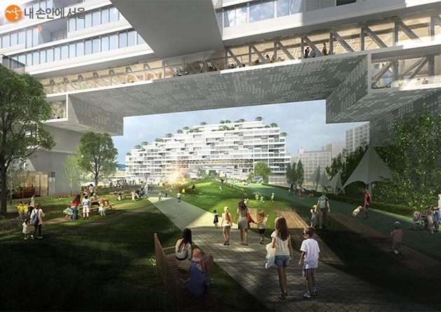 국제설계공모 당선작 '연결도시(Connection City)' 투시도