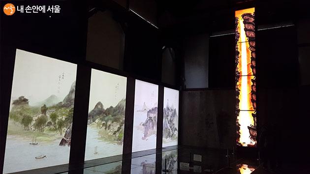 빛의 조우 기획전이 열리고 있는 마곡문화관