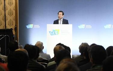 'CES 2020'에 참가 중인 박원순 서울시장이 스페셜 세션(현지시간 1월 8일 13시)에서 기조연설 했다