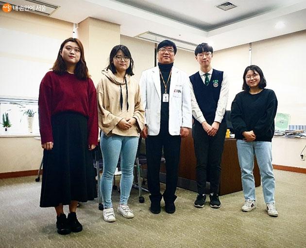 송관영 원장과 시민기자들