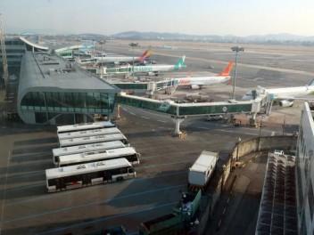 김포공항 전망대에서 바라본 김포공항의 모습