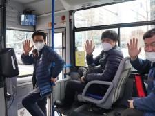 녹색순환버스 03번(도심내부순환)의 운행을 맡은 운전기사님들