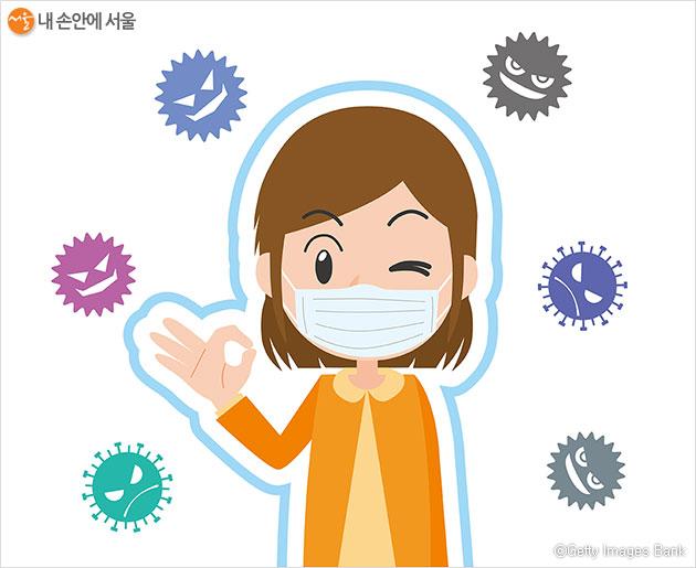 '정전기필터'를 부착한 수제 면 마스크는 보건용 마스크만큼 효과가 있다.