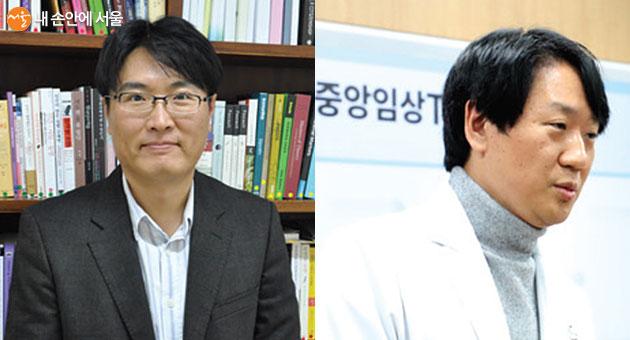 포항공과대학교 인문사회학부 교수 김기흥(좌) 과 국립중앙의료원 감염내과 전문의 진범식(유)