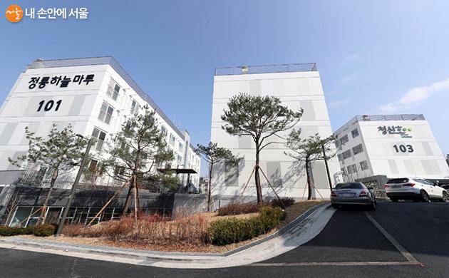 청신호 프로젝트 1호 주택인 정릉 하늘마루의 모습