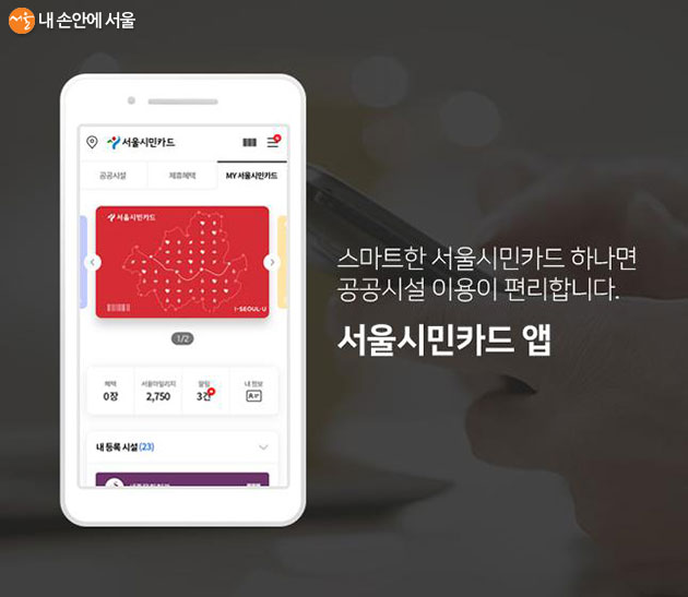 서울시민카드 앱을 통해 간편 인증만으로 무료 전자책을 이용할 수 있다