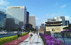 서울시는 세종대로사거리~숭례문교차로~서울역 1.5km 구간의 도로공간재편사업을 추진한다