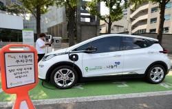 오는 2022년까지 녹색교통지역 내 나눔카 100% 전기차 전환