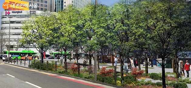 남대문시장 앞 조성될 느티나무 광장
