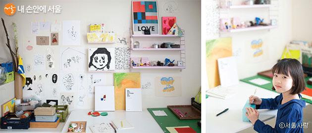 집콕이 길게 이어지고 있지만 아이는 평소 좋아하던 미술활동을 실컷 즐기며 적응하고 있다