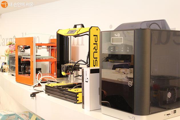 참가자들이 체험할 수 있는 3D 프린터
