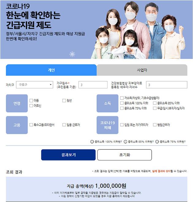 서울시는 5월 14일 '코로나19 한눈에 확인하는 긴급지원제도' 서비스를 시작했다