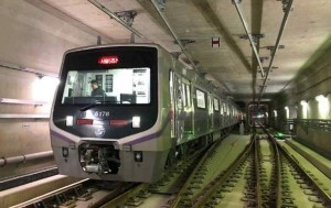 서울지하철 5호선 연장 하남선 시운전 모습