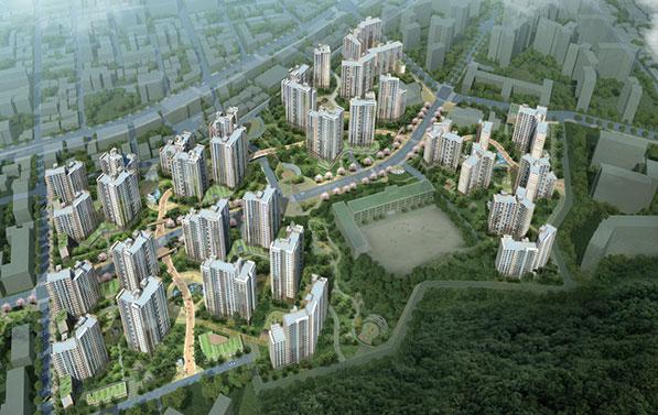 서울 12개 지역에서 행복주택 1,031세대와 장기전세 21세대가 공급된다. 사진은 행복주택 목동센트럴 아이파크위브(조감도)