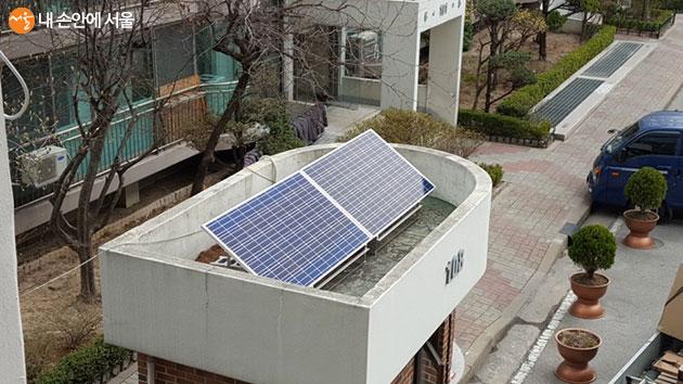 공동주택 경비실 미니태양광 설치 사례
